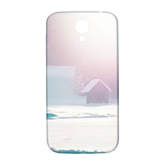Winter Day Pink Mood Cottages Samsung Galaxy S4 I9500/i9505  Hardshell Back Case