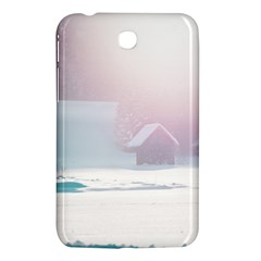 Winter Day Pink Mood Cottages Samsung Galaxy Tab 3 (7 ) P3200 Hardshell Case
