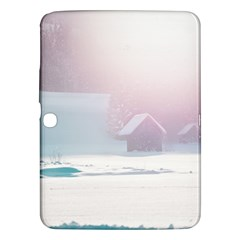 Winter Day Pink Mood Cottages Samsung Galaxy Tab 3 (10 1 ) P5200 Hardshell Case
