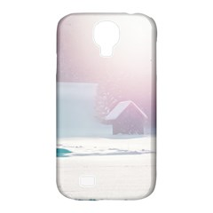 Winter Day Pink Mood Cottages Samsung Galaxy S4 Classic Hardshell Case (pc+silicone)
