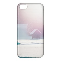 Winter Day Pink Mood Cottages Apple iPhone 5C Hardshell Case