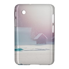 Winter Day Pink Mood Cottages Samsung Galaxy Tab 2 (7 ) P3100 Hardshell Case