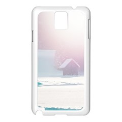 Winter Day Pink Mood Cottages Samsung Galaxy Note 3 N9005 Case (white)