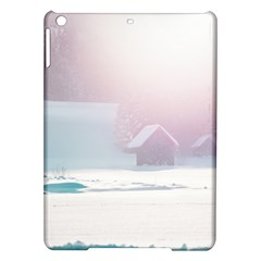 Winter Day Pink Mood Cottages Ipad Air Hardshell Cases