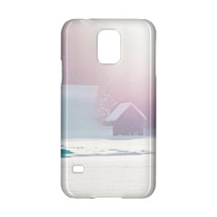 Winter Day Pink Mood Cottages Samsung Galaxy S5 Hardshell Case