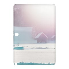 Winter Day Pink Mood Cottages Samsung Galaxy Tab Pro 10 1 Hardshell Case
