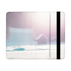 Winter Day Pink Mood Cottages Samsung Galaxy Tab Pro 8 4  Flip Case