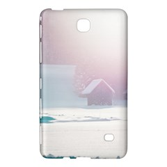 Winter Day Pink Mood Cottages Samsung Galaxy Tab 4 (8 ) Hardshell Case