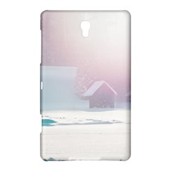 Winter Day Pink Mood Cottages Samsung Galaxy Tab S (8.4 ) Hardshell Case