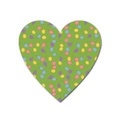 Balloon Grass Party Green Purple Heart Magnet