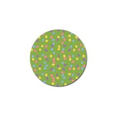 Balloon Grass Party Green Purple Golf Ball Marker