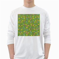 Balloon Grass Party Green Purple White Long Sleeve T-Shirts