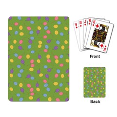 Balloon Grass Party Green Purple Playing Card