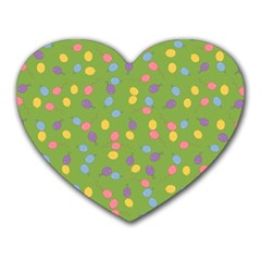 Balloon Grass Party Green Purple Heart Mousepads