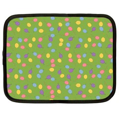Balloon Grass Party Green Purple Netbook Case (Large)