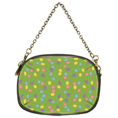 Balloon Grass Party Green Purple Chain Purses (one Side)