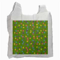 Balloon Grass Party Green Purple Recycle Bag (two Side)
