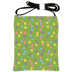 Balloon Grass Party Green Purple Shoulder Sling Bags