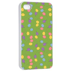 Balloon Grass Party Green Purple Apple iPhone 4/4s Seamless Case (White)