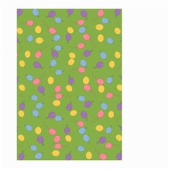 Balloon Grass Party Green Purple Small Garden Flag (two Sides)
