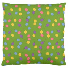 Balloon Grass Party Green Purple Large Cushion Case (one Side)