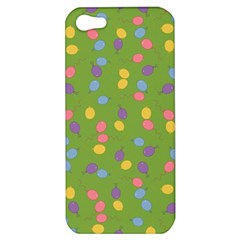 Balloon Grass Party Green Purple Apple iPhone 5 Hardshell Case