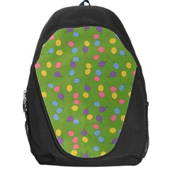 Balloon Grass Party Green Purple Backpack Bag