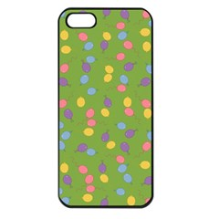Balloon Grass Party Green Purple Apple Iphone 5 Seamless Case (black)