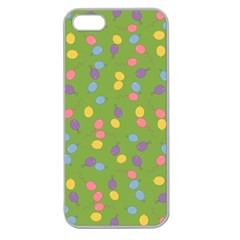 Balloon Grass Party Green Purple Apple Seamless Iphone 5 Case (clear)