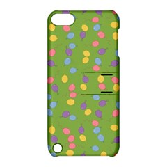 Balloon Grass Party Green Purple Apple Ipod Touch 5 Hardshell Case With Stand