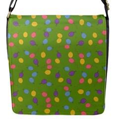 Balloon Grass Party Green Purple Flap Messenger Bag (s)