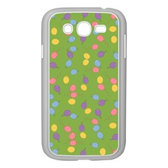 Balloon Grass Party Green Purple Samsung Galaxy Grand Duos I9082 Case (white)