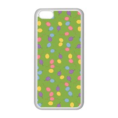Balloon Grass Party Green Purple Apple Iphone 5c Seamless Case (white)