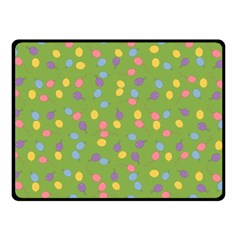 Balloon Grass Party Green Purple Double Sided Fleece Blanket (small)