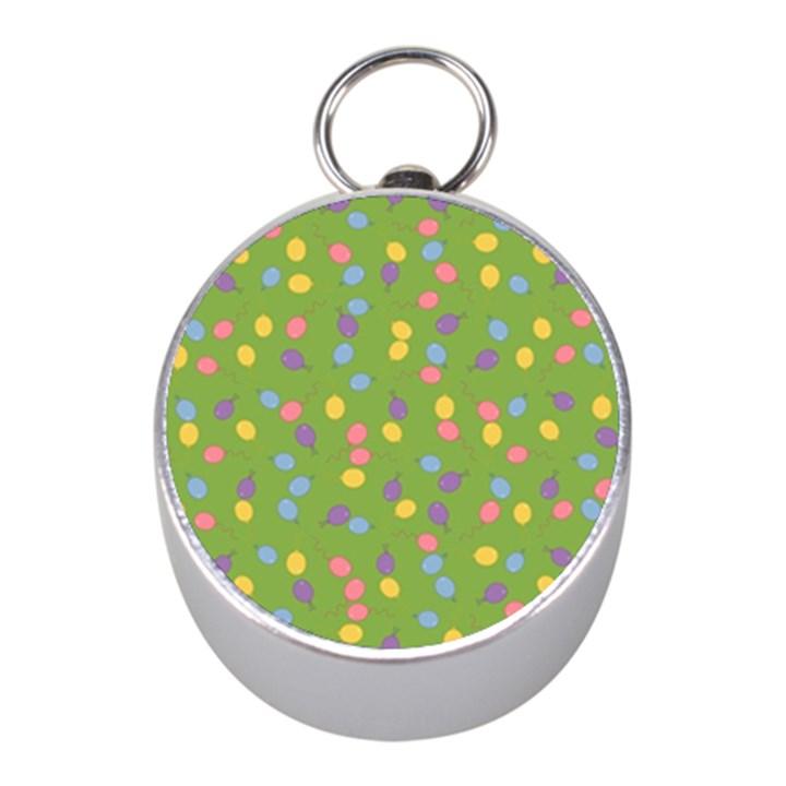 Balloon Grass Party Green Purple Mini Silver Compasses