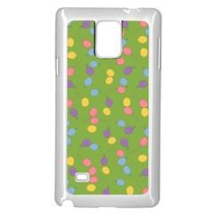Balloon Grass Party Green Purple Samsung Galaxy Note 4 Case (white)