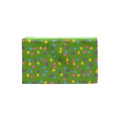 Balloon Grass Party Green Purple Cosmetic Bag (XS)