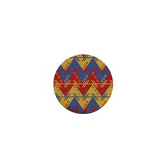 Aztec South American Pattern Zig Zag 1  Mini Buttons