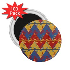Aztec South American Pattern Zig Zag 2 25  Magnets (100 Pack)