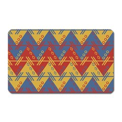 Aztec South American Pattern Zig Zag Magnet (Rectangular)
