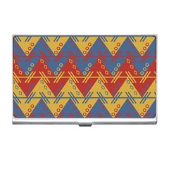Aztec South American Pattern Zig Zag Business Card Holders