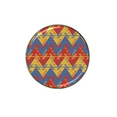 Aztec South American Pattern Zig Zag Hat Clip Ball Marker (4 Pack)