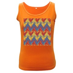 Aztec South American Pattern Zig Zag Women s Dark Tank Top