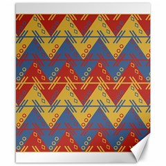 Aztec South American Pattern Zig Zag Canvas 8  x 10