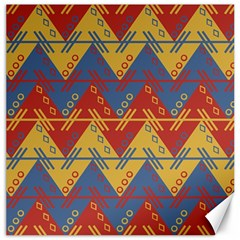 Aztec South American Pattern Zig Zag Canvas 20  x 20