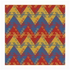 Aztec South American Pattern Zig Zag Medium Glasses Cloth
