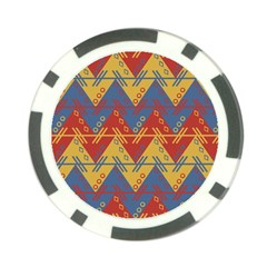 Aztec South American Pattern Zig Zag Poker Chip Card Guard