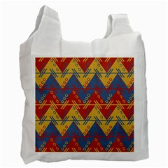 Aztec South American Pattern Zig Zag Recycle Bag (Two Side)