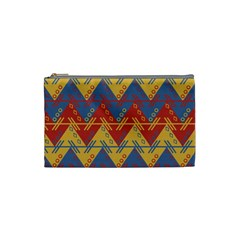 Aztec South American Pattern Zig Zag Cosmetic Bag (small)
