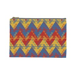 Aztec South American Pattern Zig Zag Cosmetic Bag (Large)